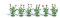 Busch 1248 6 Klatschmohnpflanzen H0