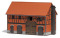 Busch 1507 Scheune m.gr.Stall H0