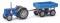 Busch 211006001 Famulus mit Anhänger Blau TT