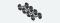 ESU 41201, Scheibenradsatz AC für Spitzenlagerung, Güterzugwagen, Durchmesser 10,8 mm, Achslänge 22,0 mm. 4 Stück Packung