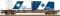 Fleischmann 524108 Containertragwagen Sgnss mit