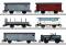 Märklin 46520 $$ Güterwagen-Set zum Köfferli, 6 Wag.,SBB,II