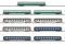 Märklin 87408 MHI/Wagendisplay Schnellzugwagen 9 Reisezugwagen, DB, SNCF, SBB
