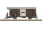 LGB 43813 RhB gedeckter Güterwagen Ep. V