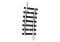 Märklin T14929 Geb. Gleis R2b 295,4 mm , 7,5 GR