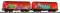 Piko 58362 Set Schiebeplanenwagen 2tlg. DB AG VI mit Graffiti und gealtert