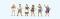 Preiser 10674 Stehende Biertrinker