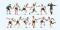 Preiser 10758 Fussballmannschaft.Weiße Trikots, schwarze Hosen