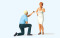 Preiser 44932 Heiratsantrag mit Ring