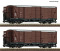 ROCO 34583 2 piece set: Covered goods wagons