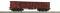 ROCO 67296 Offener Güterwagen 4-achs braun