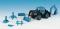 Viessmann 12226 KIB/H0 LANZ Traktor mit Festwagen, inkl. 5 Figuren