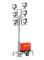 Viessmann 1344 5144/H0 Leuchtgiraffe Feuerwehr auf Anhänger