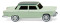 Wiking 009002 Fiat 1800 white green w. moss green roof
