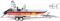 Wiking 009548 DLRG - Mehrzweckboot MZB72 (Lehmar)