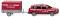 Wiking 013307 Feuerwehr - Audi Q7 mit Anhänger