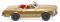 Wiking 014249 MB 250 SL Cabrio - gold-metallic