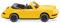 Wiking 016504 Porsche Carrera Cabrio - gelb