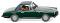 Wiking 018698 Glas 1700 GT Cabrio geschlossen - dunkelgrün