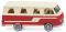 Wiking 027045 Borgward Campingbus B611 - perlweiß/rot