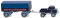 """Wiking 037104 Unimog U 411 mit Anhänger """"Freyaldenhoven"""""""