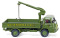Wiking 041101 Flatbed truck with loading crane (MAN 415) Schenker