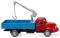 Wiking 042002 Pritschen-Lkw mit Ladekran (Magirus S 3500) - rot/blau