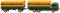 """Wiking 045601 Pritschenhängerzug (MB 2223) """"Sped. Denkhaus"""""""