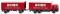 Wiking 045701 Kofferlastzug (Hanomag Henschel) Union Transport