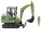 Wiking 065805 Mini-Bagger HR 18 - hellgrün