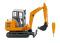 Wiking 065806 Mini-Bagger HR 18 - kommunalorange