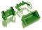 Wiking 077381 Frontlader Werkzeuge Set A - John Deere grün