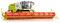 Wiking 077824 Claas Lexion 760 TT Mähdrescher mit V 1200 Getreidevorsatz