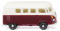Wiking 093202 VW T1 bus - wine-red/white