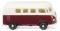 Wiking 093202 VW T1 Bus - weinrot/weiß