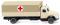Wiking 094904 DRK - Pritschen-Lkw (Magirus)