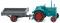 Wiking 095304 Hanomag R 16 mit Anhänger - wasserblau/grau